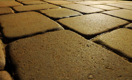 Cobble Stone Blocks At Night Royalty Free Stock Photo
