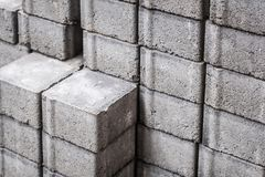 Cobble stone, construction material , stacked pavement stones -. Cobble stone, construction material , stacked pavement stones Stock Image