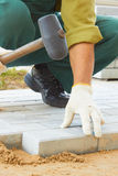 Cobble-stone laying down Stock Photography