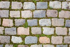 Cobble Stone. Old Cobble Stone Road Background royalty free stock photography