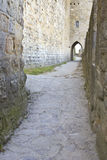 Cobble stone path on a medieval castle Stock Photography