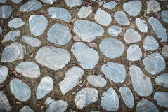 Cobble stone paved Royalty Free Stock Image
