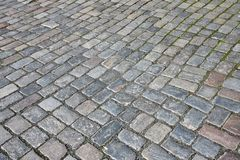 Cobble stone pavement Royalty Free Stock Image