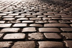 Cobble Stone road Royalty Free Stock Photography