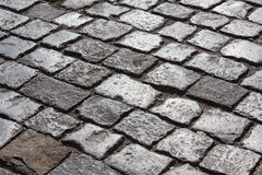 Cobble stone road Royalty Free Stock Photo