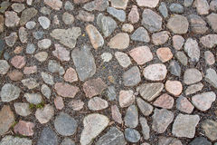 Cobble stone road surface Stock Photography