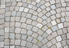 Cobble stone road surface Stock Photos
