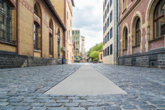 Cobble Stone Street Background, Cologne, Germany Stock Images
