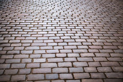 Cobble Stone Street Background Royalty Free Stock Photography