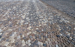 Cobble stone street pattern, Budapest, Hungary Royalty Free Stock Photo