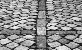 Cobble stones. In black and white for background or texture stock photography