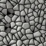 Cobble stones. Abstract surface made from grey cobble stones Royalty Free Stock Image