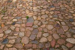 Cobble stones. In the city of Lüneburg in Germany stock photography