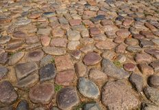Cobble stones. In the city of Lüneburg in Germany stock images