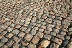 Cobble stones. Pavement in noth seeland Denmark royalty free stock photos