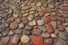 Cobble-stones roadway. Stock Photos