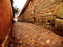 Cobble Straat Cusco Stock Afbeelding