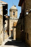 Cobble Street. In Puertomingalvo - Spain royalty free stock photo
