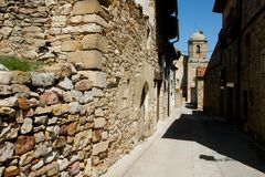 Cobble Street. In Puertomingalvo - Spain stock images