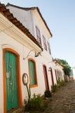 Cobble street in Paraty, Rio de Janeiro Royalty Free Stock Photos