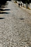 Cobble Street. Stone Cobble Street in Portugal stock images