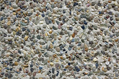 Cobble wall - dry dash Royalty Free Stock Image