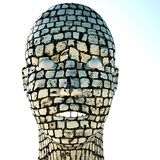 Cobble woman Royalty Free Stock Photography