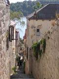 cobbled улица Хорватии Стоковое Изображение RF