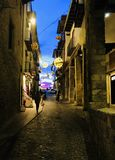 Alley in Morella Spain royalty free stock photo
