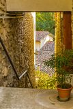 Cobbled alleys of a medieval village Royalty Free Stock Photo