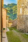 Cobbled alleys of a medieval village Stock Photography