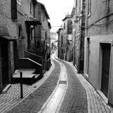 Cobbled alleyway Stock Images