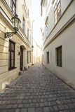 Cobbled alleyway of old city, Prague, Czech Republic Stock Image