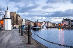 Cobbled Footpath along a Harbour Royalty Free Stock Photos