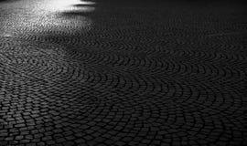 Cobbled Frankfurt-Straßen Stockfotografie