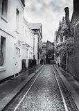 Cobbled London mews Stockfoto
