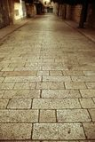 Cobbled narrow street Stock Image
