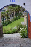 Cobbled path - Portmerion Village in Wales Royalty Free Stock Image
