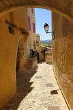 Cobbled path in village of Gordes, Provence Stock Photos