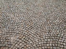 Cobbled pavement made of granite cubes Royalty Free Stock Image