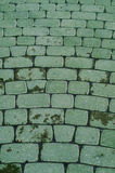 Cobbled pavement pattern made of cubes. Royalty Free Stock Photography