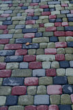 Cobbled pavement pattern Royalty Free Stock Photo