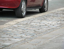Cobbled Pavement. This photo shows a cobbled pavement in Faversham royalty free stock image