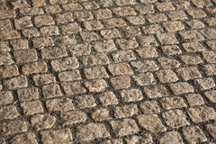 Cobbled Pavement Texture Royalty Free Stock Photos