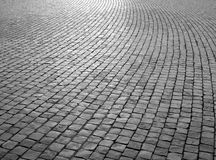 Cobbled paving stock photos