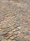 Cobbled road. Cobbled street Royalty Free Stock Image