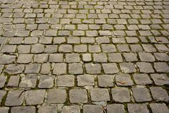 Cobbled road. Perspective of a cobbled road Royalty Free Stock Photography