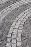 Cobbled road. Detail of a cobbled road Royalty Free Stock Image