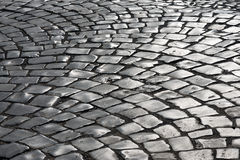 Cobbled road. As background 15 Royalty Free Stock Photography