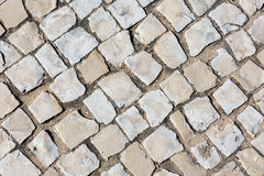 Cobbled road as background. Stock Photography